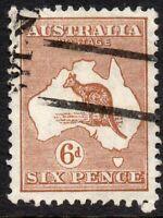 1932 Australia Sg 132 6d chestnut (Die IIB) Fine Used
