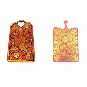 Cutting Board Big Large Wooden Russian Khokhloma Hand-painted Handmade New 1 pc