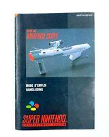 Notice jeu SNES Super Nintendo Scope Livret Instruction Manuel PAL FAH