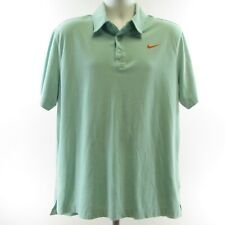 Nike Green Short Sleeve 3 Button Polo Shirt Size XXL Orange Swish Mens