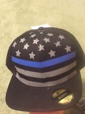 Police Thin Blue Line Hat- one size fits most- Brand New