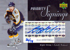 04-05 Upper Deck PRIORITY SIGNINGS xx/78 Made! Scott HARTNELL - Predators
