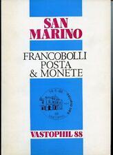 San Marino Vastophil '88. Francobolli Posta & Monete