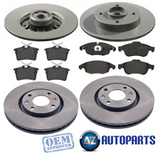 For Peugeot - Partner 1.6 2008-2017 Front & Rear Brake Discs & Pads w/ ABS Rings