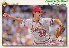 512 BOB TEWKSBURY ST. LOUIS CARDINALS BASEBALL CARD UPPER DECK 1992