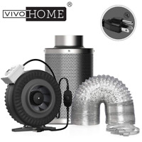 """VIVOHOME 4"""" 6"""" Inline Duct Fan + Carbon Filter + Air Ventilation Extractor Tube"""
