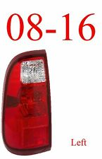08 16 Super Duty Left Tail Light Assembly, Ford F250, F350, F450 FO2800208