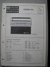 ITT/Schaub Lorenz Cherie 102 Service Manual, K013