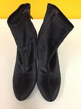 kenneth cole reaction womens boots black velvet size 7