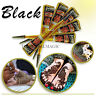 100% PURE NATURAL& PESTICIDE FREE 2 X INSTANT DARK BLACK HENNA TATTOO CONES