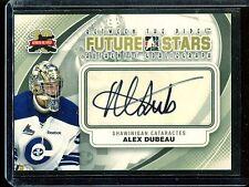 2011-12 ITG Between the Pipes Goaliegraph Autograph A-ADU   Alex Dubeau