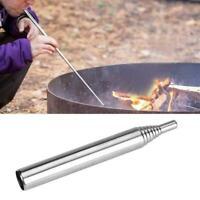 Einziehbares Outdoor Kochwerkzeug Camping Blasrohr Feuer Blasrohr starten G5Q1