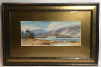 Vintage Watercolour Continental Coastal Scene Signed Tom Howe Mounted And Framed