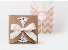 10X Pack Kraft Paper Boxes/ Party Wedding Favour Boxes/ Loot bags Pack