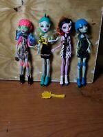 Monster High Lot of 4 Roller Maze Skultimate Frankie Lagoona Operetta Ghoulia