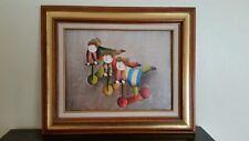 Roy Bal Clown Painting Framed