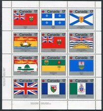 Lot of 50 Canada Souvenir Stamp Sheets #832a Provincial & Territorial Flags