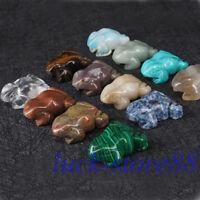 """Natural Hand Carved Frog Natural Crystal Healing Gemstone Carving Specimen 2"""""""