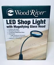 Wood River LED Shop Light with Magnifying Glass Head 4670