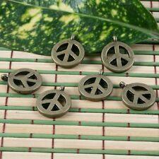 22pcs antiqued bronze peace sign pendant charm G1066