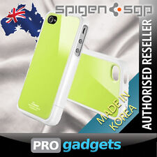 Genuine Spigen SGP Apple iPhone 4 4S Linear Colour Case Cover - Lime Green