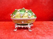pregiato Gioielli-uovo_scatola con coperchio_metallo con real pietre Swarovski__