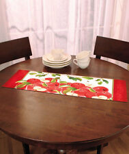 Decorative Apple Nonskid Table Runner Dinning Room Linens Country Kitchen Decor