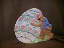 Fitz & Floyd Essentials Easter Egg Bunny Rabbit Plate Spring Decor