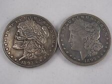 Zombie Morgan Coin two face Coin - Ultra Cool Two Headed Coin Pressed