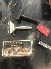 VINTAGE Ever Ready Razor & Double Six Razor And Packs Of Blades. Job Lot