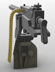 1/16 Scale Battleground M48 Jeep Dashboard Mounted M1919A4 Machine Gun