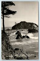 Vintage RPPC Postcard Rugged Coast Near Pebble Beach Crescent City CA Real Photo