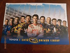 "1 2010 NASCAR Sprint Cup Toyota Driver Lineup poster..17"" X 11"""