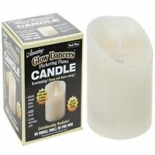 Realistic Dancing Flicker Flame Glow Battery Operated Real Wax Candle Tea Light