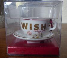 2006 Starbucks Wish Christmas Tree Ornament Coffee Mug Cup Saucer Holiday w Box