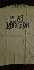 Stussy Mens XL T Shirt short sleeve Green Black Play Records