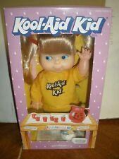 "NEW Vintage 1988 Kool-Aid Kid 9"" Soft Doll w/ Original Outfit Goldberger YELLOW"
