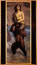 Franz di stucco 29 Faun e ninfa acquatica disco 35x60 ROMANA MITOLOGIA SATIRO fauna