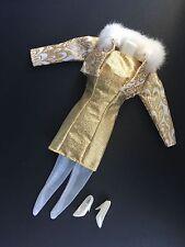 Vintage 90's Barbie Mattel Fashion Avenue Boutique Golden Party Dress Collection