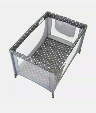 Pamo Babe Comfortable Playard, Sturdy Play Yard With Mattress (Grey)