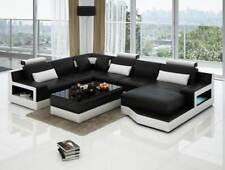 Ledersofa Ecksofa Design Couch Garnitur Wohnlandschaft Eck Sitz Polster Ulm Neu