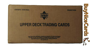 2001 Upper Deck Golf Factory Seal 12 Box Hobby Case - Tiger Woods RC Rookie