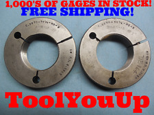 2.3870 11 1/2 NS THREAD RING GAGES GO NO GO P.D.'S = 2.3305 & 2.3232 TOOLING