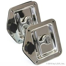 2 Trailer Door Latch T-Handle Lock Stainless Steel Keys Camper Rv Truck Toolbox