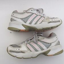 ADIDAS kid girl's fashion white running walking shoe size--12.5K