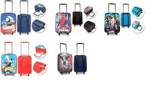 New Kids Cabin size Disney character school travel suitcase wheeled trolley bag