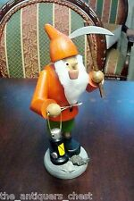 """Seiffen made in Germany smoker """"Gold Digger"""", 8"""" tall"""