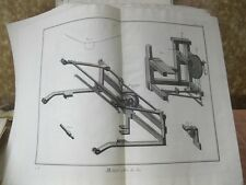 Vintage Print,MEIER A FAIRE,Diderot Occupation,Machinery,c1770-80.p2