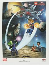 NEW LEGO VIP CAPTAIN MARVEL POSTER 5005877 EXCLUSIVE PRINT PROMO SUPERHEROES