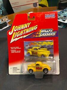JOHNNY LIGHTNING 1941 Yellow WILLYS Hot Rod GASSER Craggar Diecast 6+ 364-04